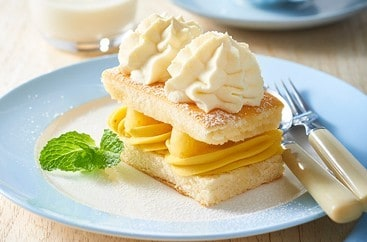 Pineapple Cream Sponge Cake