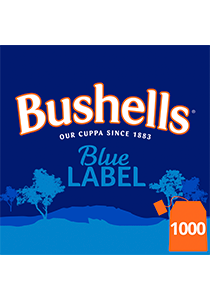BUSHELLS Tea Cup Bags 1000's - Bushell's Blue Label Enveloped Tea bags are individually wrapped in an envelope for optimal freshness, hygiene, and convenience.