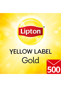 LIPTON Yellow Label Gold Foil Envelope 500's - Foil sealed and individually enveloped for optimal freshness, flavour and hygiene, this pack of 500 tea bags is ideal for offices or catering.