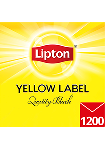 LIPTON Yellow Label Quality Black Envelope Cup Bags 1200s - Individually enveloped for optimal freshness, flavour and hygiene, this bulk pack is sustainably sourced from Rainforest Alliance certified farms.