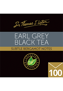 SIR THOMAS LIPTON  Earl Grey 100's - Individually sealed for a fresh, premium tea with bergamot notes sourced from the world's most renowned tea regions.