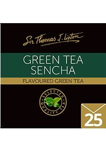 SIR THOMAS LIPTON Green Tea Sencha Envelope 25's - Individually sealed for a premium and fresher tea.