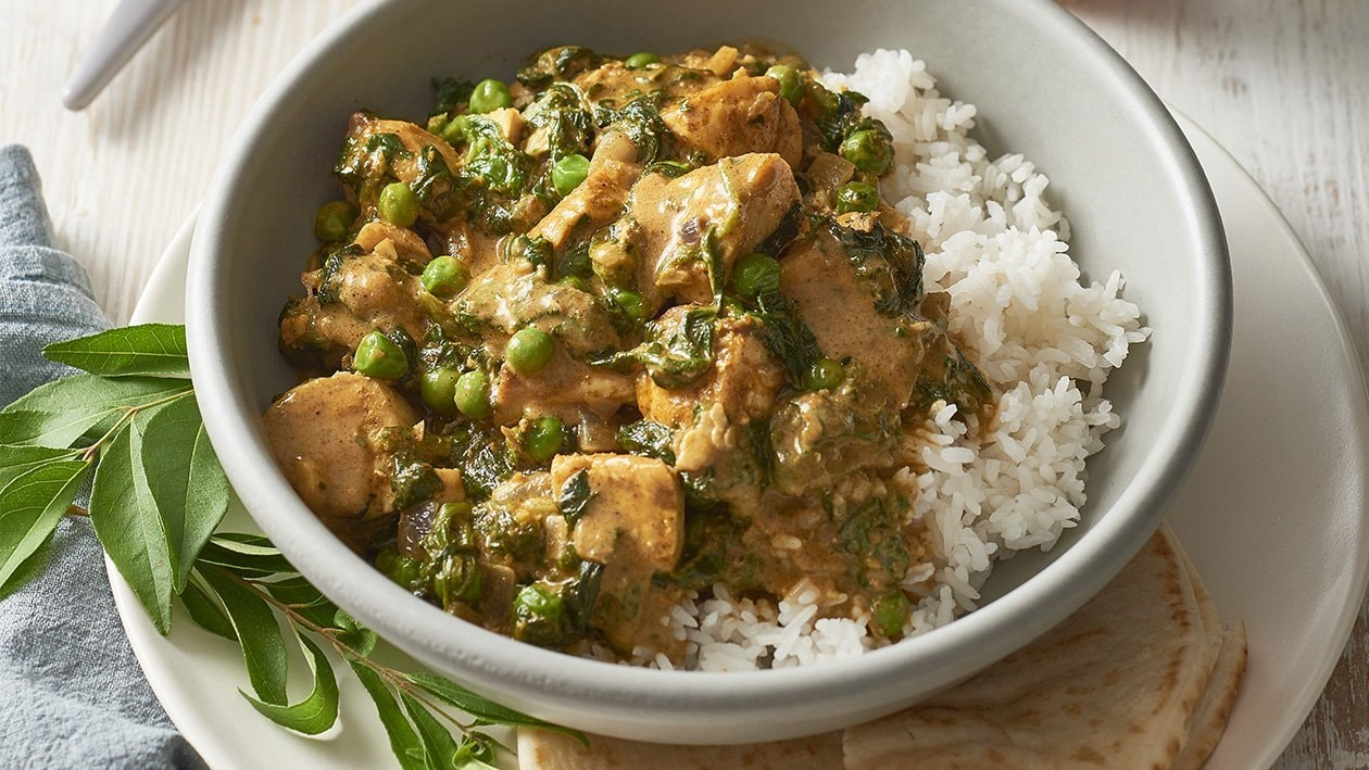 Fish Curry with Spinach and Peas – Recipe