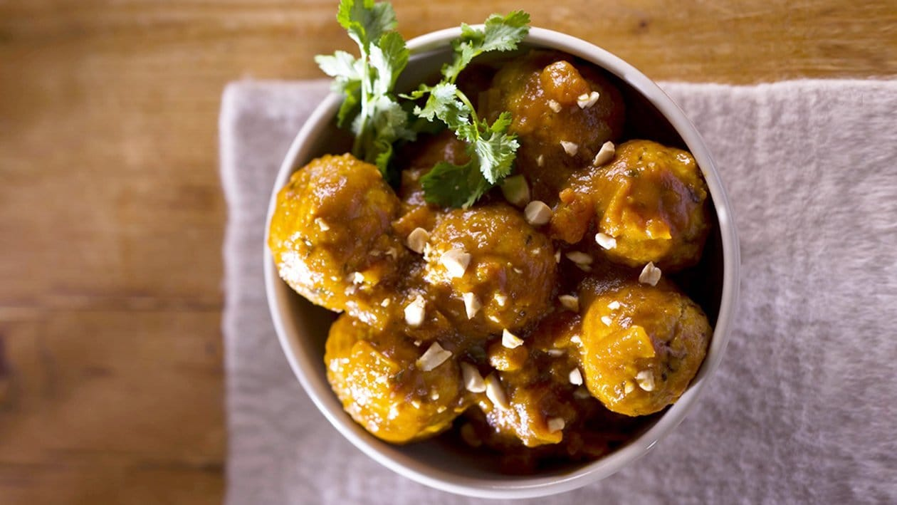 Moroccan Spiced Chicken Meatballs with Whole Roasted Almonds – Recipe