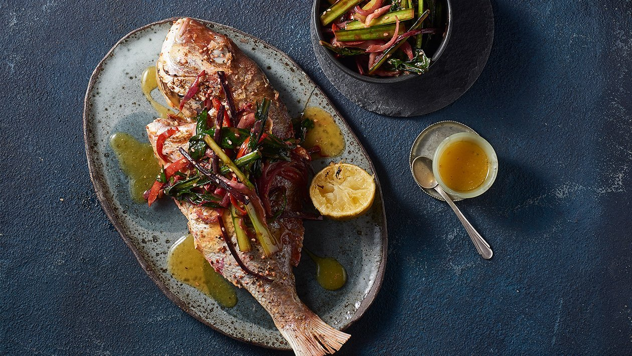Whole Baked Chinese Lemon Curry Snapper – Recipe