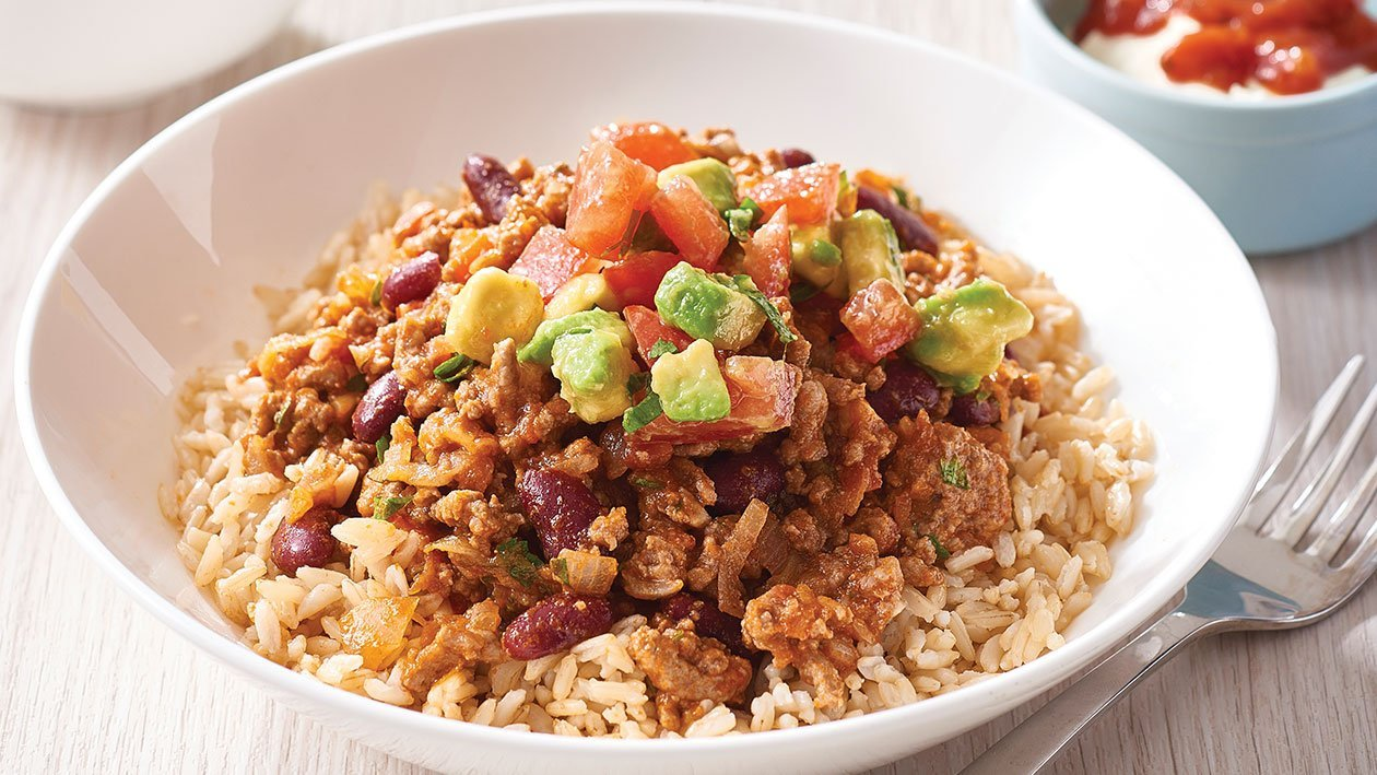 Mexican Mince with Avocado and Tomato Salsa – Recipe