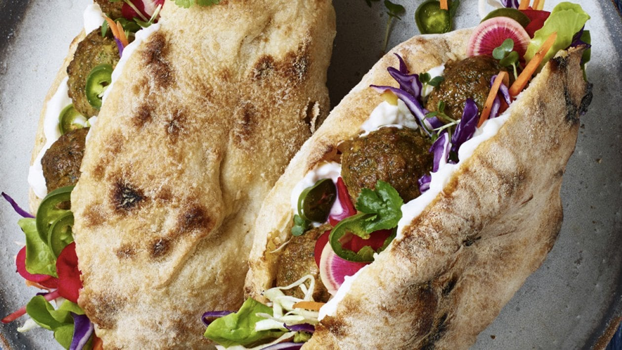 Middle Eastern Falafel Sandwich – Recipe