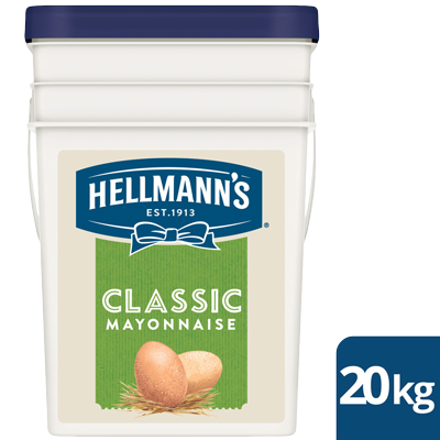 HELLMANN'S Classic Mayonnaise 20 kg - HELLMANN'S Classic Mayonnaise delivers a balanced taste and offers greater versatility at an affordable price.