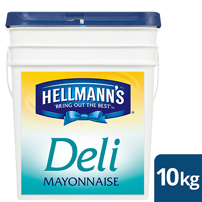 HELLMANN'S Deli Mayonnaise 10kg - HELLMANN'S Deli Mayonnaise lets you deliver a sweet and tangy taste in every bite consistently at an affordable price.