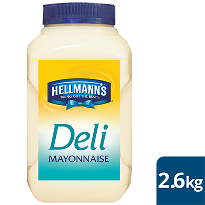 HELLMANN'S Deli Mayonnaise 2.6kg - Hellmann's deli Mayonnaise delivers a consistent sweet and tangy taste in every bite at an affordable price.