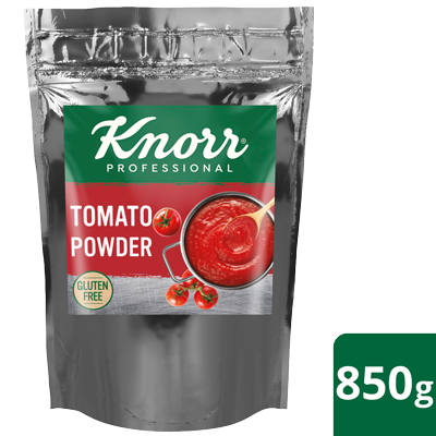 KNORR Tomato Powder 850 g - Every pack of 850 g Knorr Tomato Powder delivers 7.8 kg of consistent, rich, pulpy tomato sauce in just one minute.