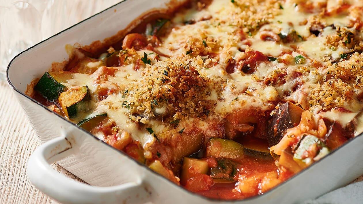 Zucchini, eggplant and tomato gratin – Recipe