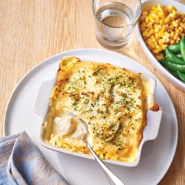 Fish Pie with Potato Top