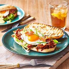Pulled Pork Eggs Benny Roll